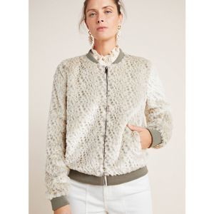New Anthropologie Tatiana Faux Fur Bomber Jacket